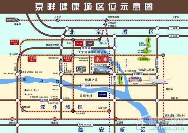 京畔健康成位置图