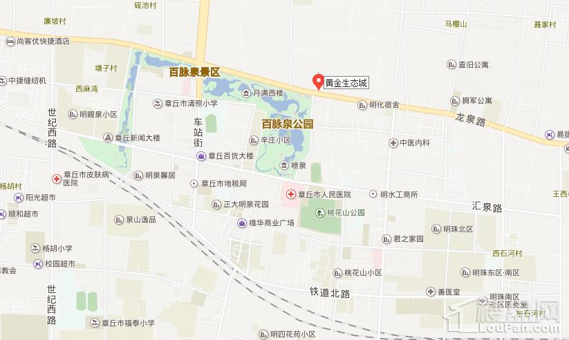 黄金·生态城位置图