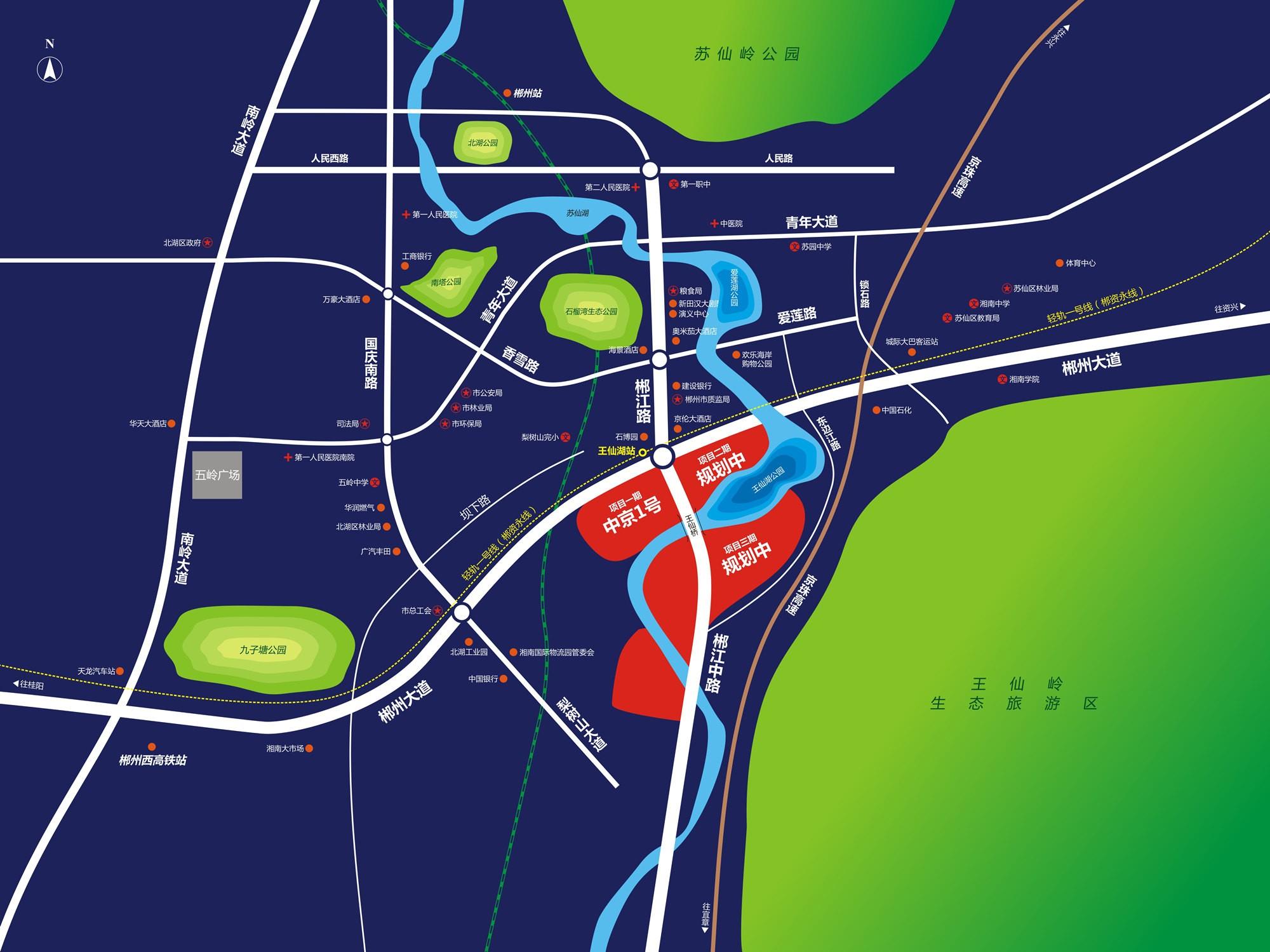 中京1号位置图