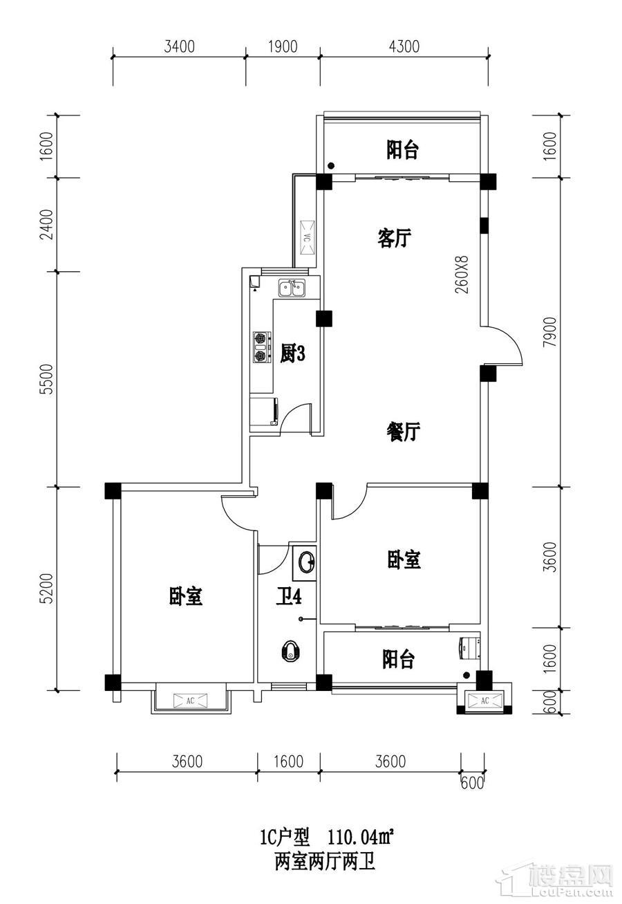 江南名苑1C户型图