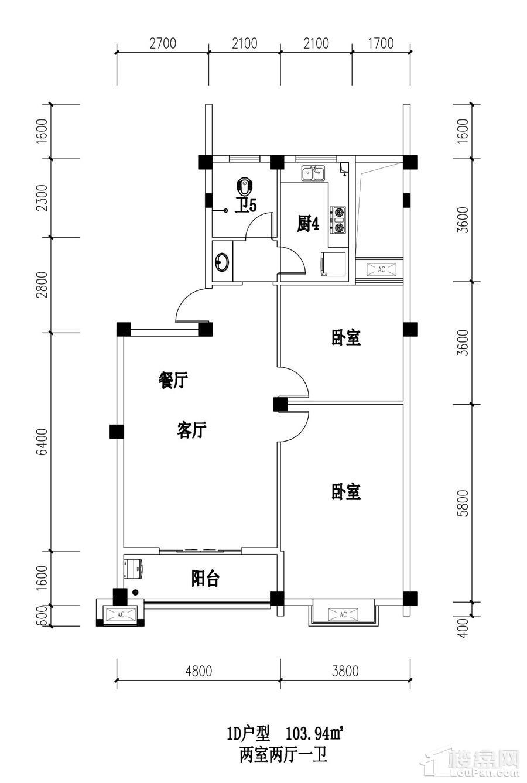 江南名苑1D户型图
