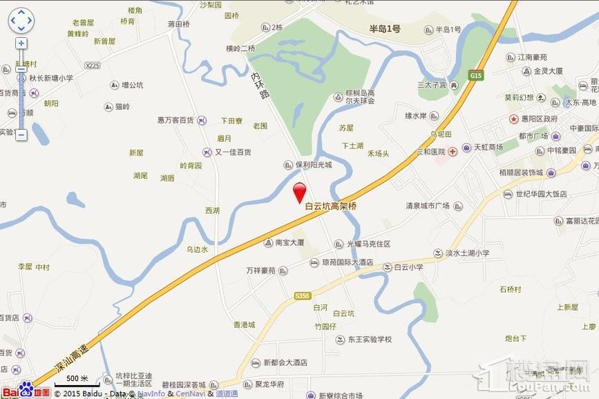 惠州源通·壹方水榭位置图
