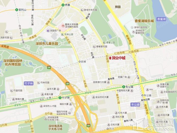 深圳中城位置图