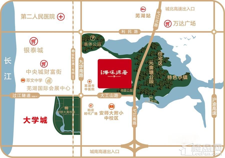 碧桂园塘溪源著位置图