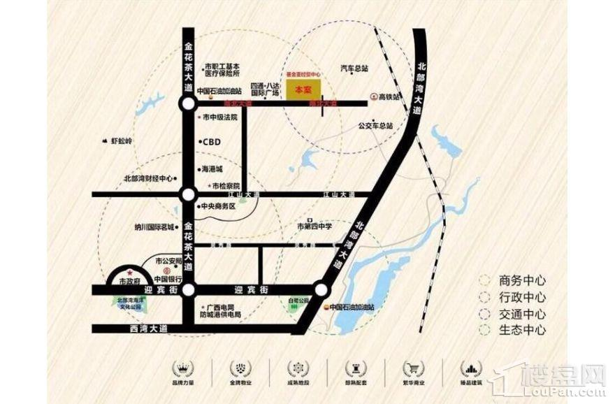 荟金·亚太经贸中心(写字楼)位置图