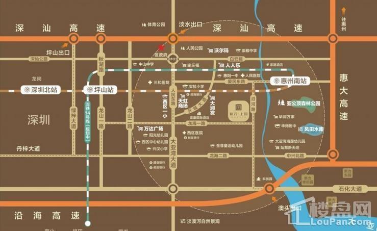 新力上园交通图