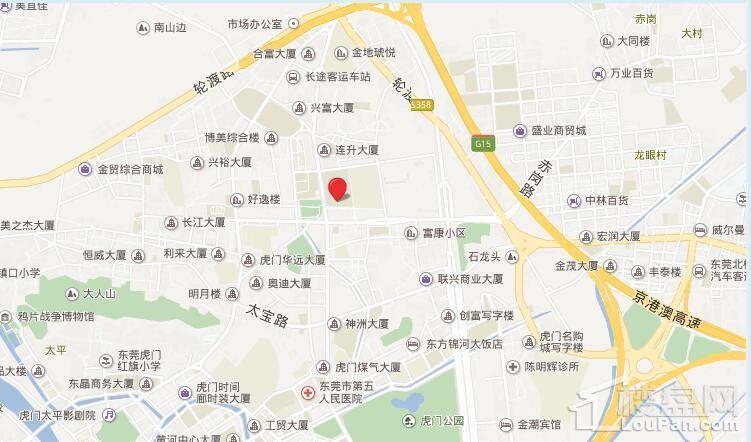 虎门万达广场位置图