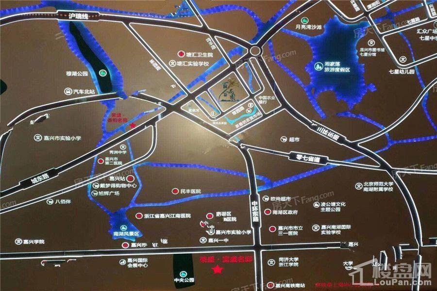 荣盛百合花园位置图