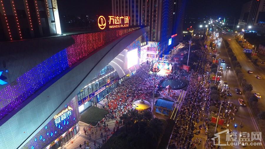 安吉万达广场夜景实景图