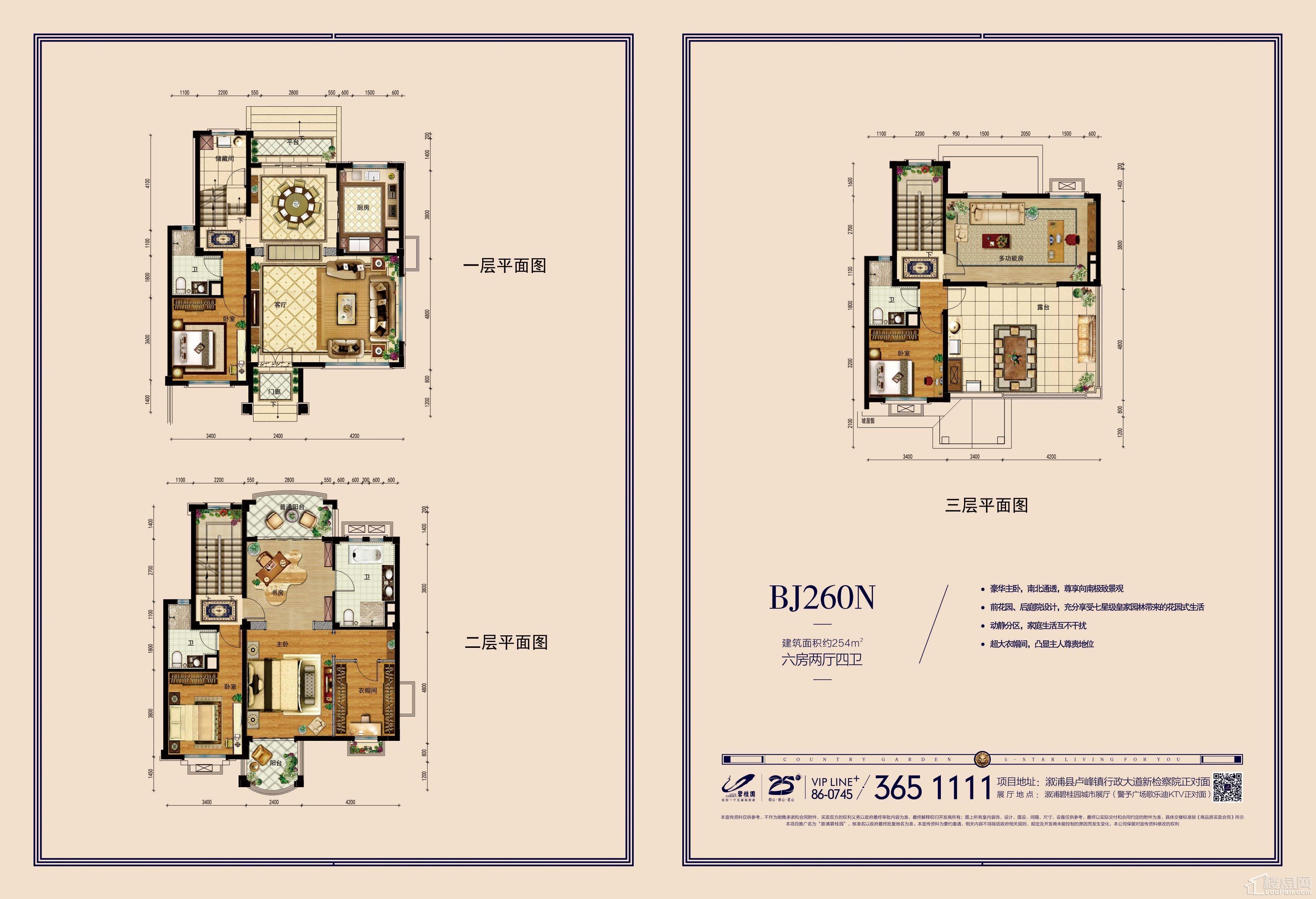 溆浦碧桂园别墅BJ260高清户型图