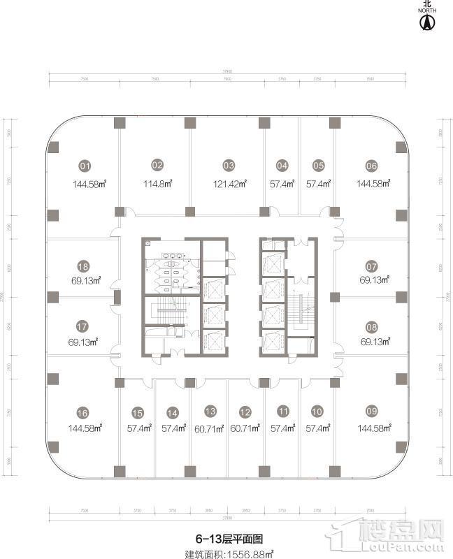 6-13层平面图