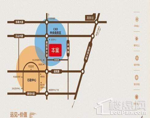 金地时代广场(公寓)位置图