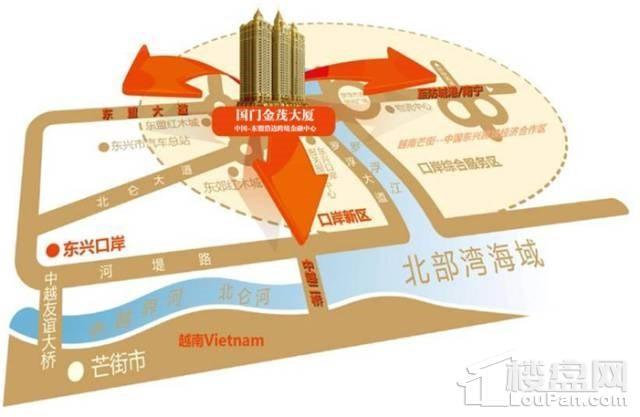 国门金贸大厦位置图