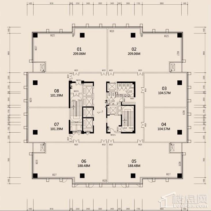 6#楼 写字楼平层户型