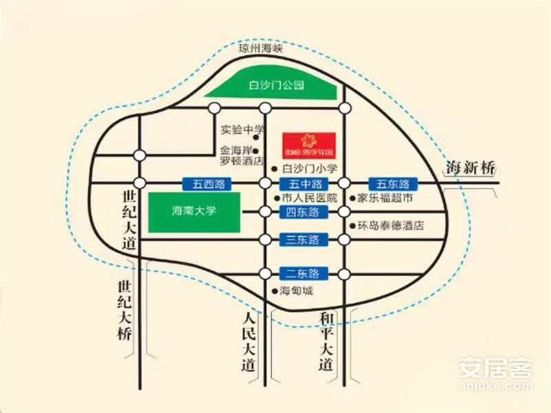 海悦四季花园位置图