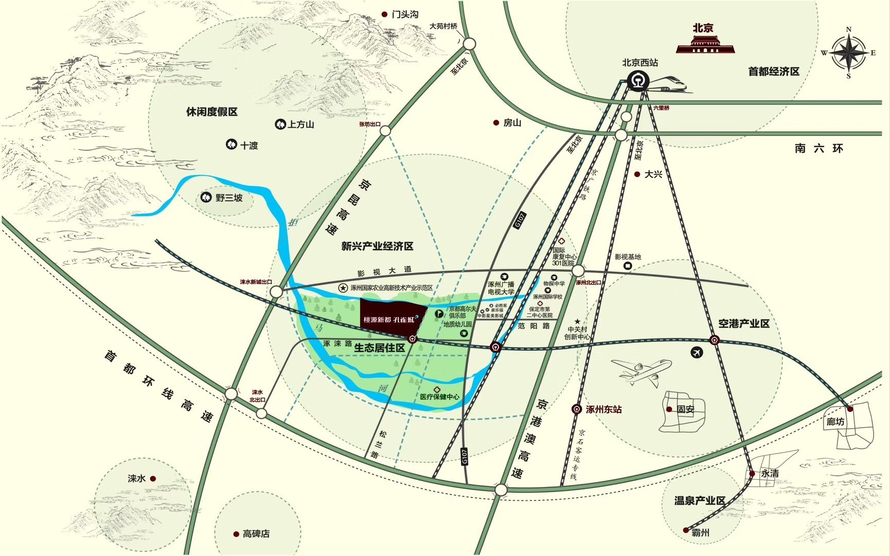 桃源新都孔雀城位置图