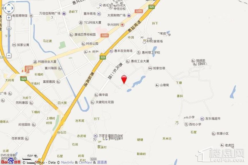 惠阳新力·帝泊湾位置图