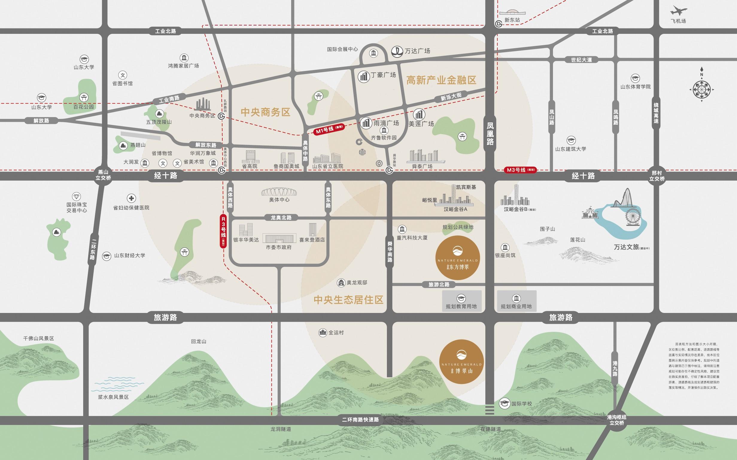 金科·东方博翠位置图