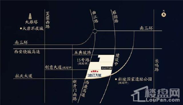 中海曲江大城位置图