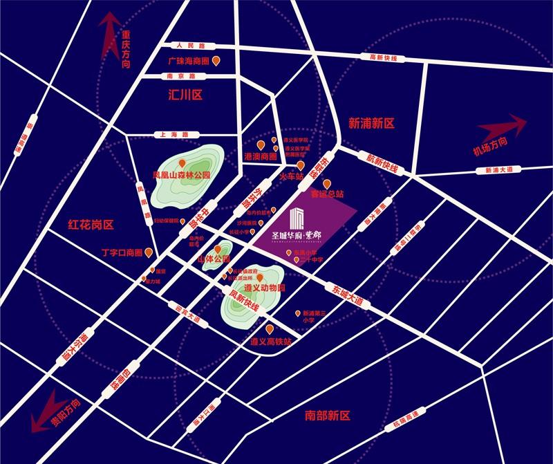圣城华府·紫郡位置图