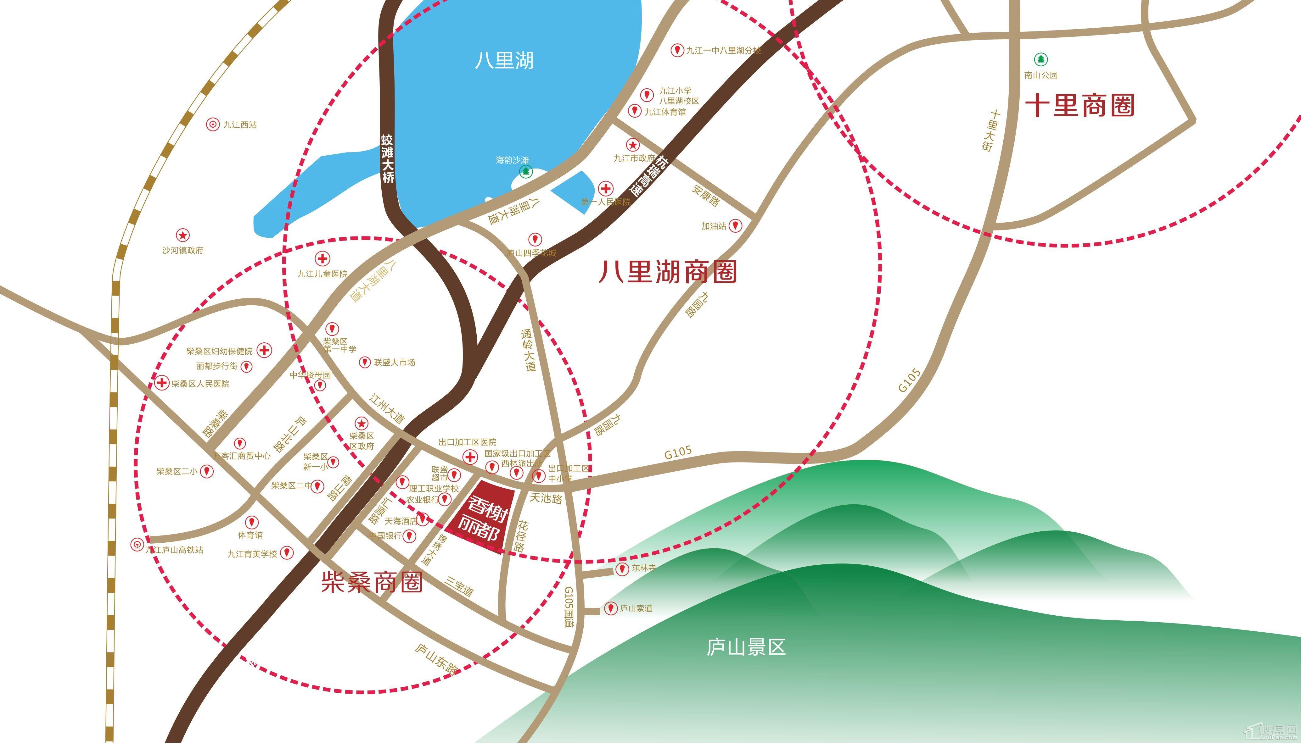 香榭丽都丨溪境位置图