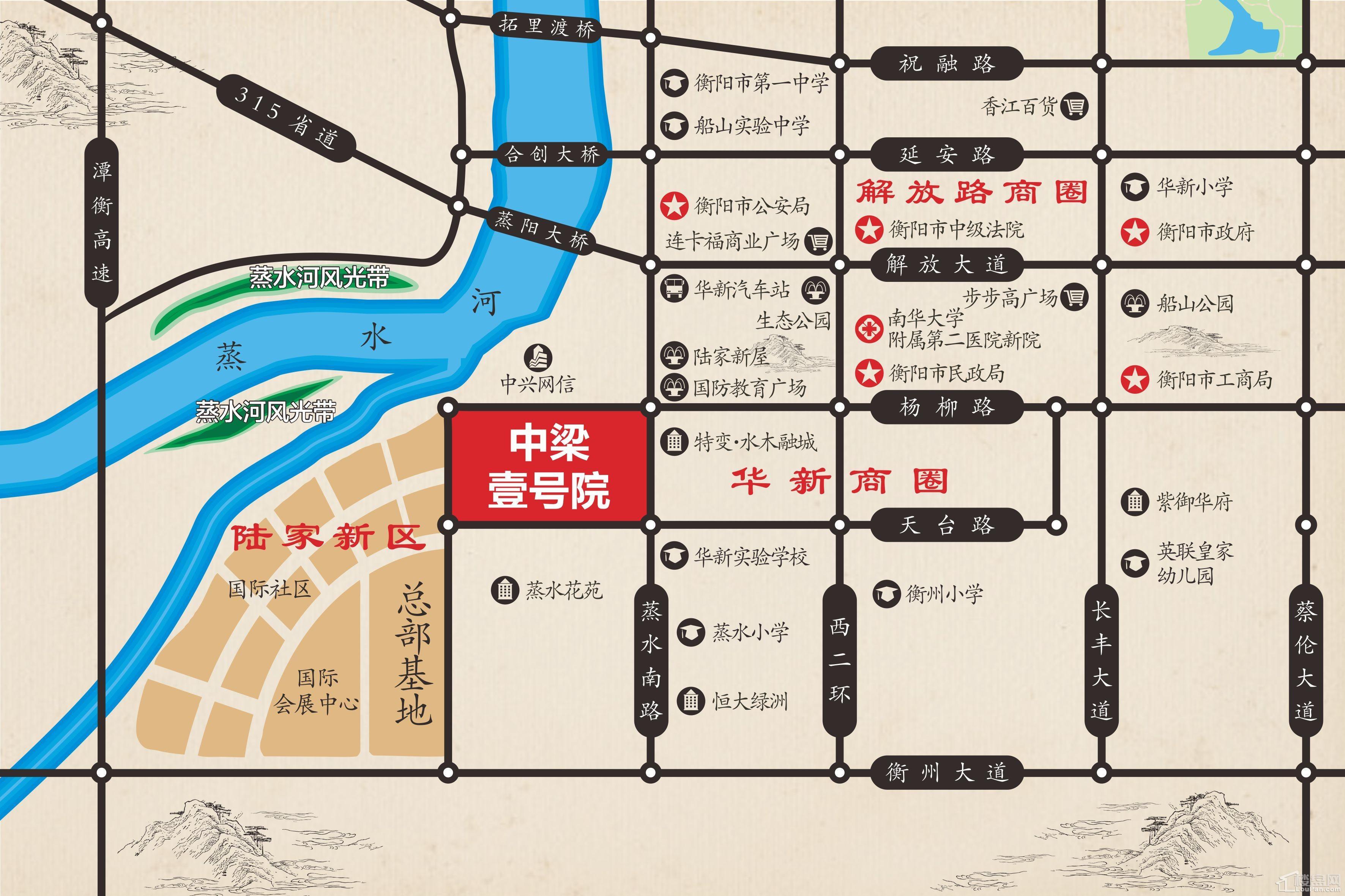 中梁·壹号院位置图