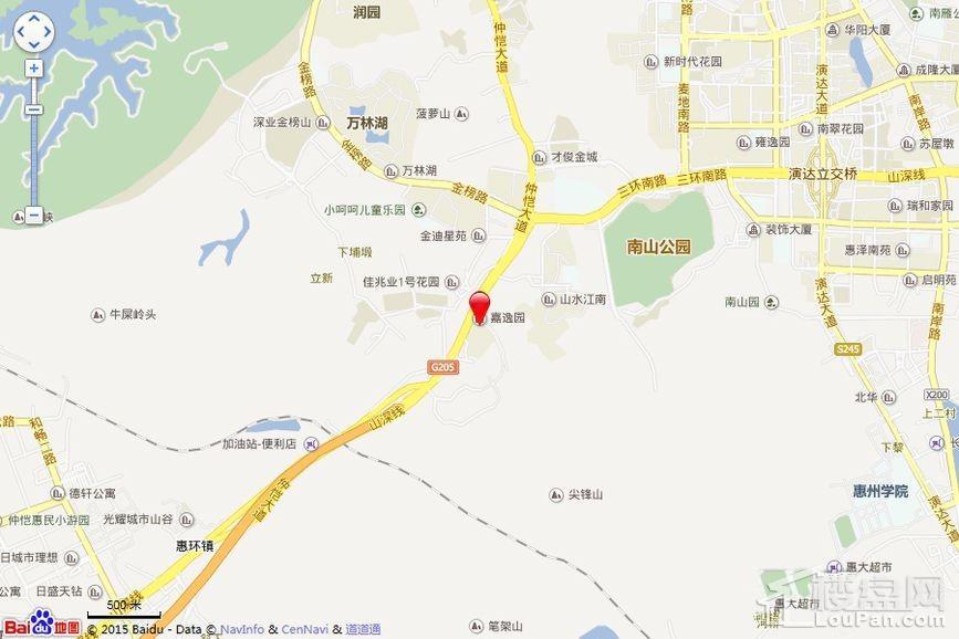 惠州嘉逸园位置图