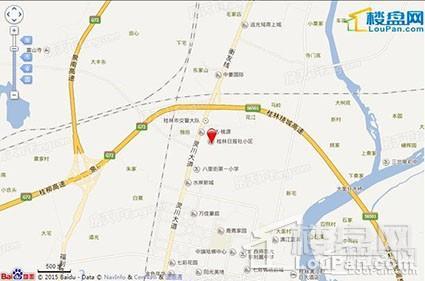 滨江国际桂林日报社小区-位置图