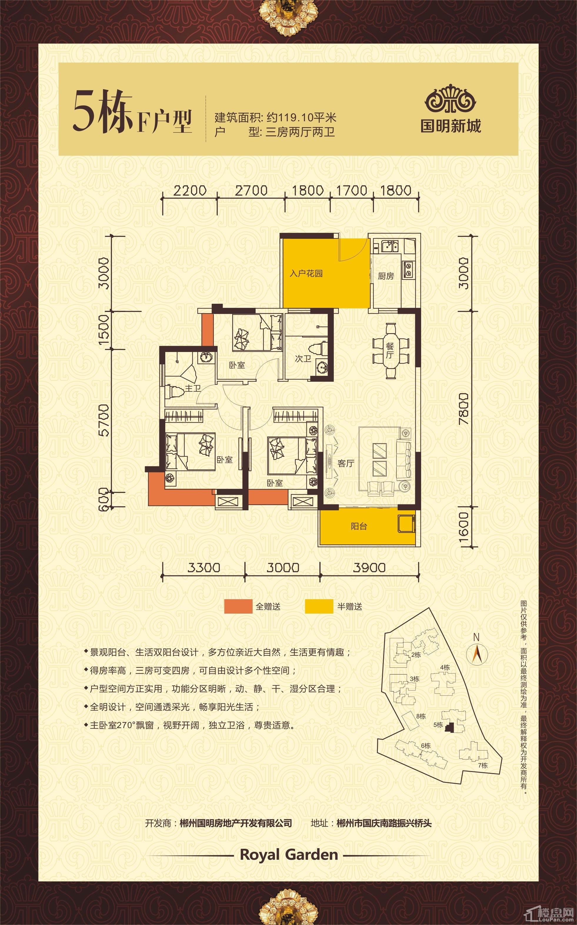 国明新城5栋F户型
