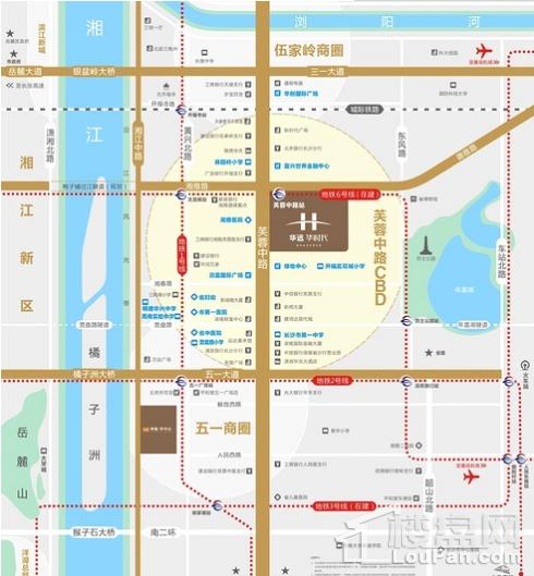 华远华时代(长沙)位置图