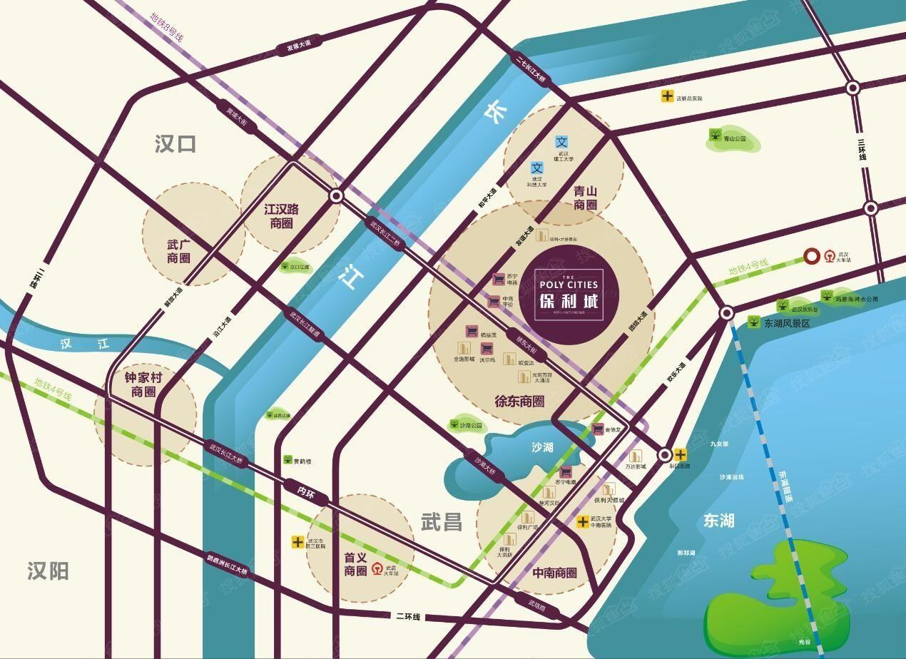 保利城SOHO位置图