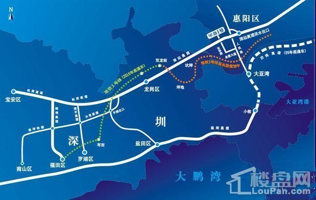 惠州半岛1号位置图