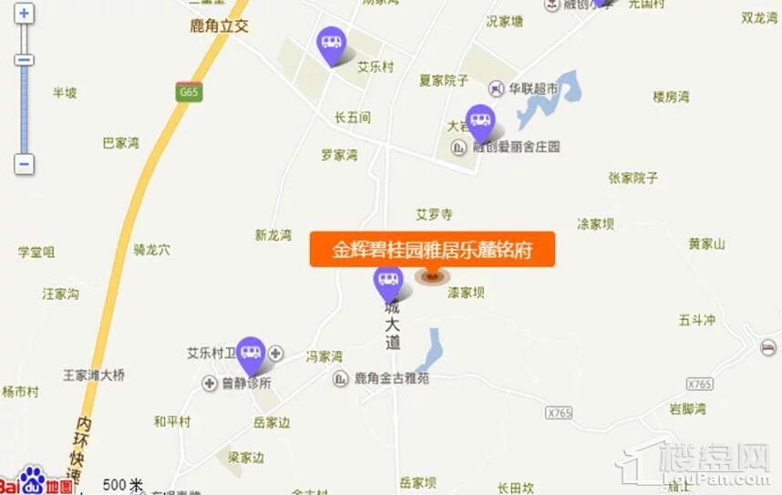 金辉碧桂园雅居乐·麓铭府位置图