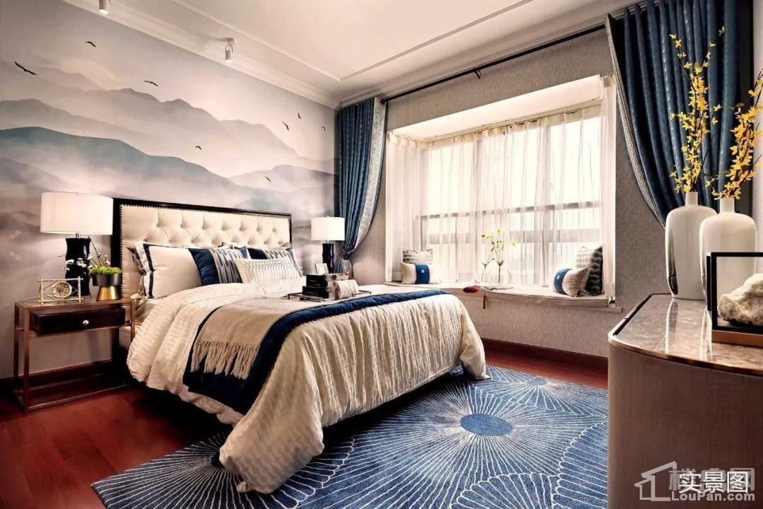 恒大御景湾样板间卧室实景图