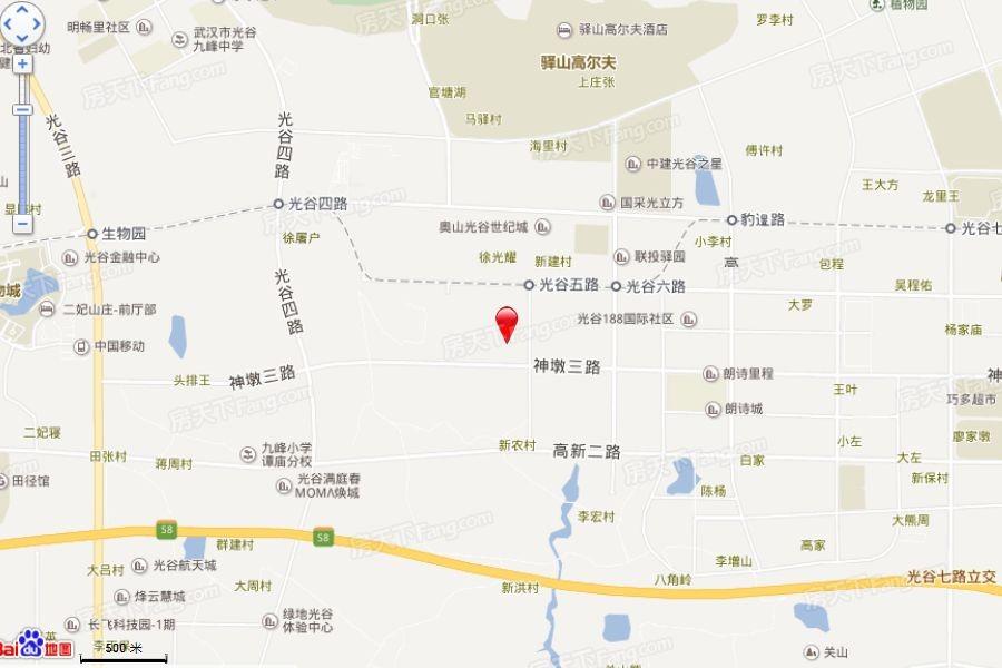 绿地光谷中心城位置图