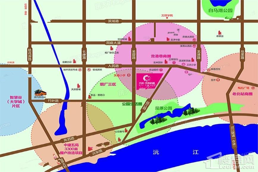 天润芙蓉新城位置图