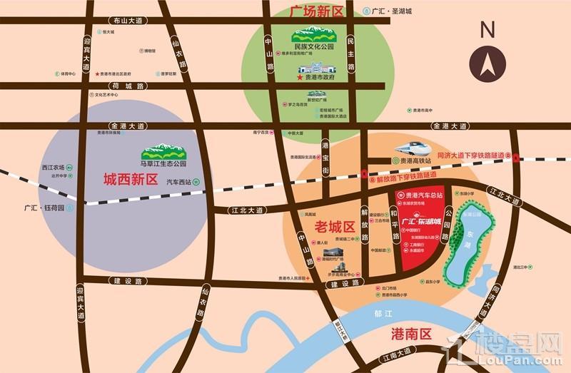 广汇·东湖城位置图