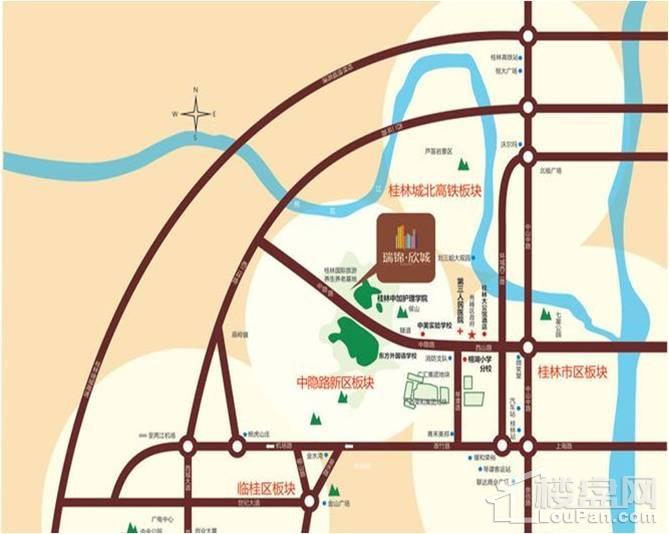 瑞锦欣城位置图