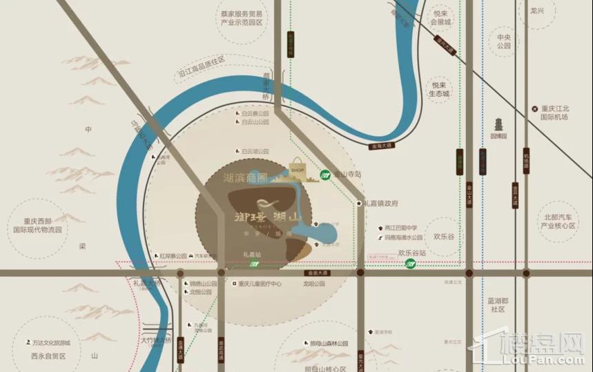 华宇旭辉·御璟湖山位置图