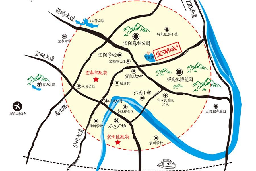 宝湖城位置图