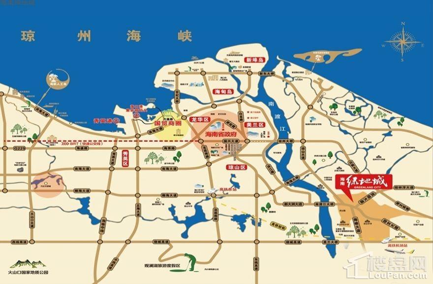 海南绿地城七期位置图