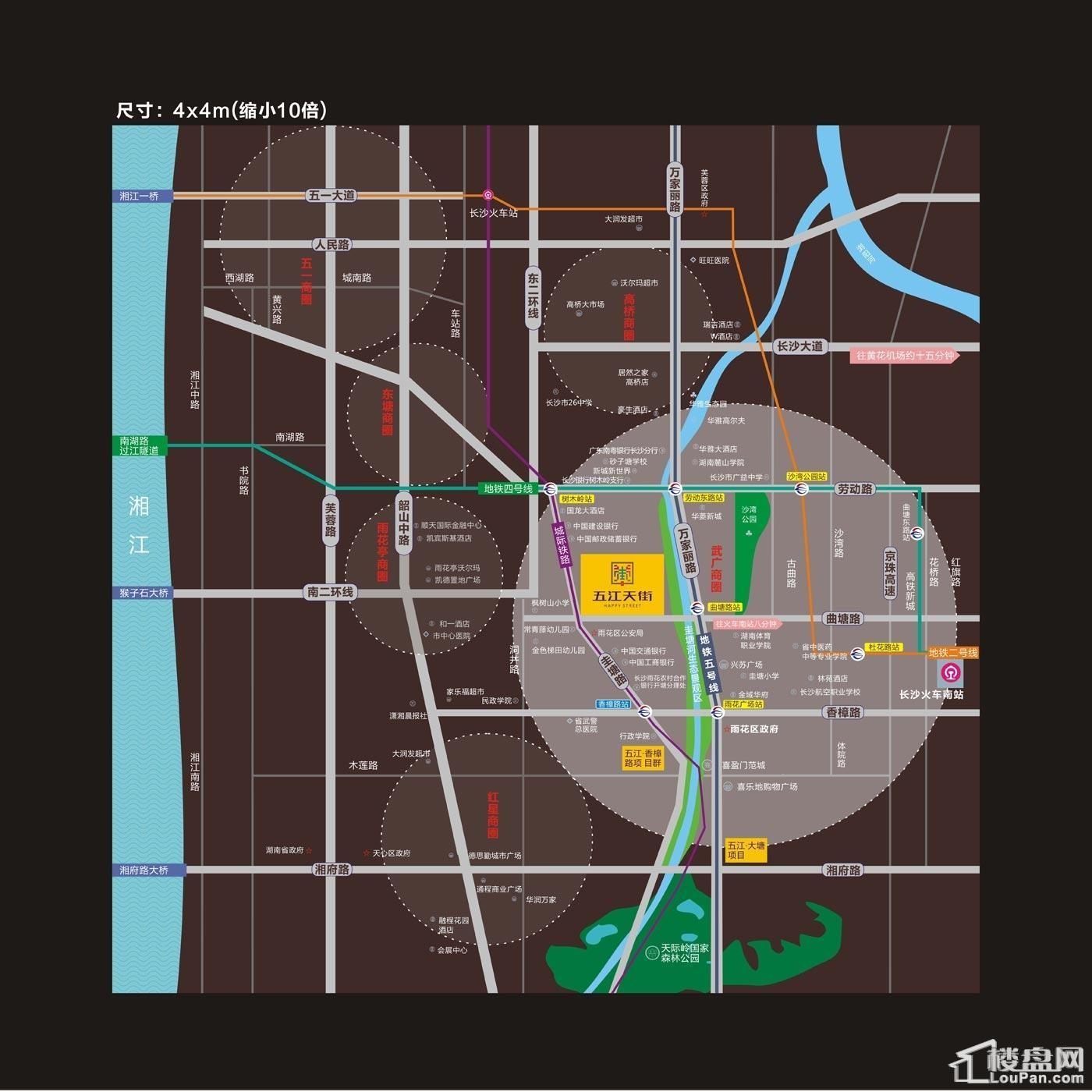 五江天街(北区)位置图