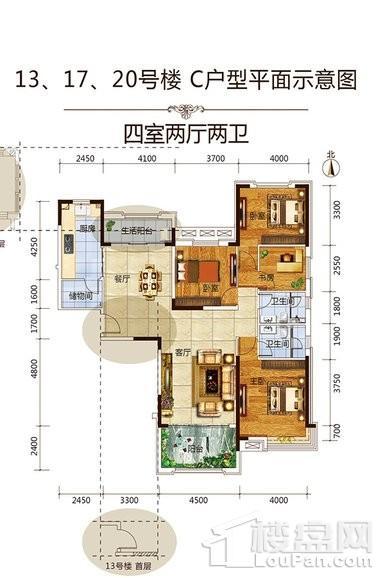 13、17、20号楼标准层C户型
