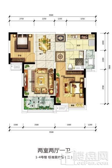 1-4号楼标准层户型2
