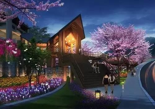 抚仙湖畔樱花谷效果图