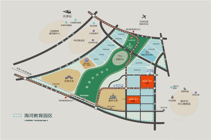 鲁能泰山7号位置图