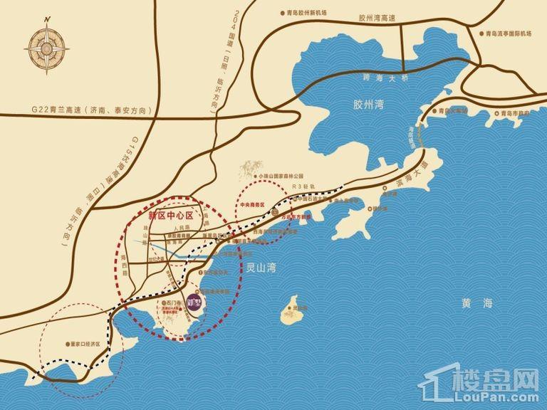 珠山秀谷御墅位置图