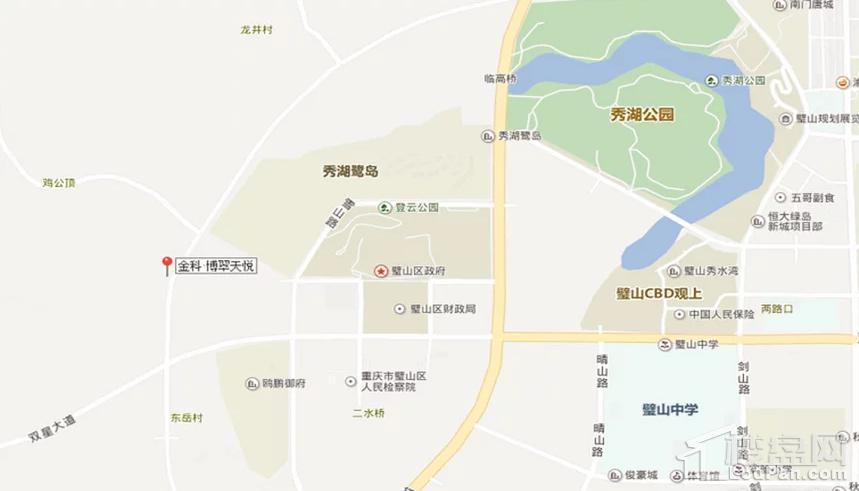 金科博翠天悦位置图