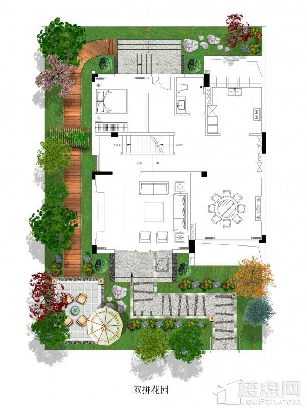 双拼别墅/花园