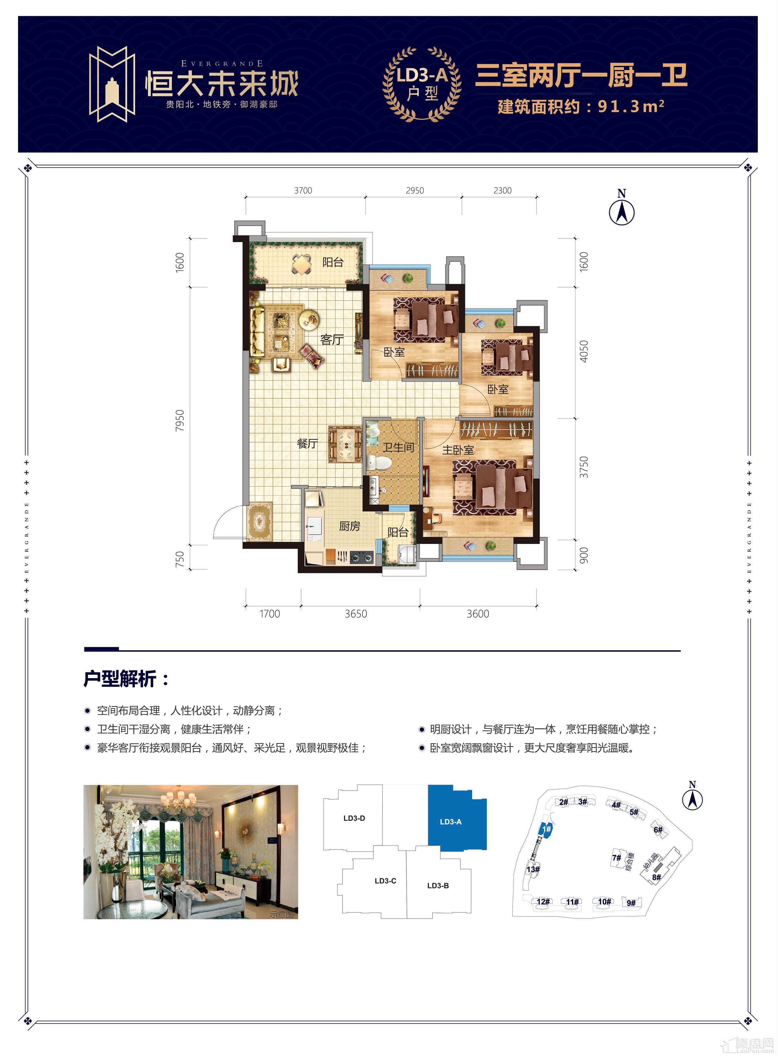 恒大未来城LD3-A户型